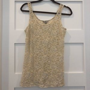 Bke lace tank sz large
